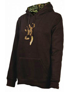 BROWNING WOMENS CAMO BUCK HOODIE BROWN (MEDIUM)- Back40Trading2