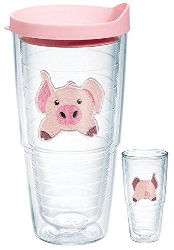 Tervis Tumbler Pig Front and Back 24oz (Double Sided) with Travel Lid
