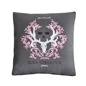 Bone Collector Pink Pillow Gray - Back40Trading2