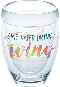 Tervis 9 oz. Save Water Drink Wine Stemless Glass Tervis One Size- Back40Trading2