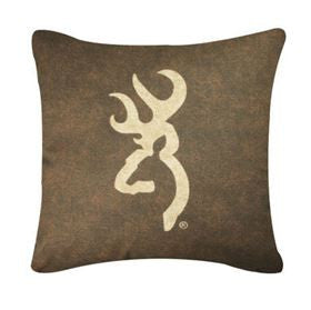 Browning Buckmark Pillow Dark - Back40Trading2