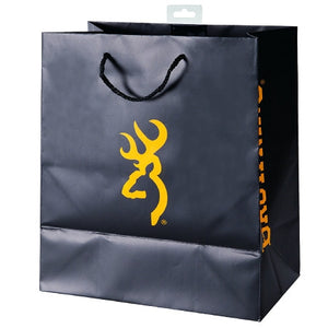 SPG Accessories PA1012 Browning Gift Bag Black with Gold Buckmark - Back40Trading2
