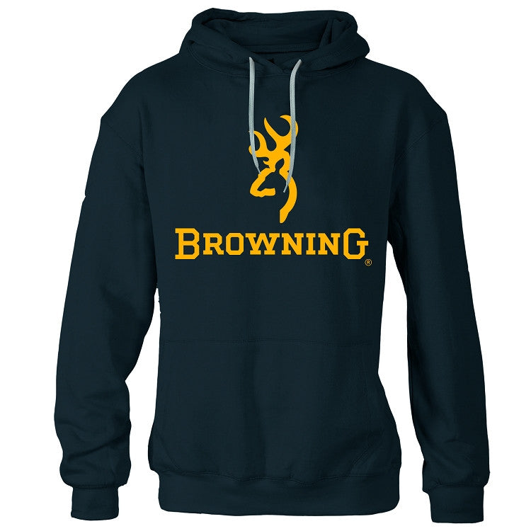 Browning® Men's Gold Buckmark Hooded Sweatshirt Black