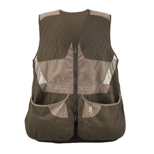 Browning Mens Summit Vest, Chocolate/Taupe - Back40Trading2