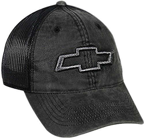 Faded Chevrolet Mesh Back Hat, Black