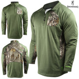Browning Men's Beam 1/4 Zip Pullover, Clover - Back40Trading2