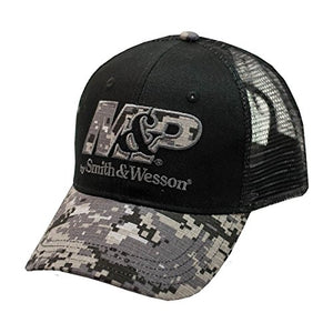 540 Brands Smith & Wesson Men's Black One-Size Digi-Camouflage Mesh Hat -back40trading2
