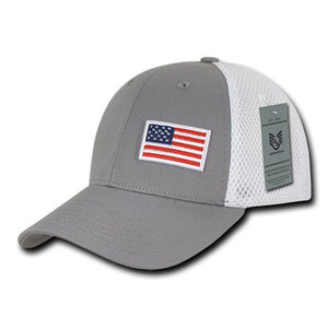 Rapid Dominance A08-USA-GRY Aero Foam Flex USA Cap, Grey- back40trading2