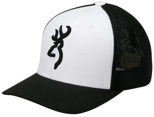 Browning Colstrip Hat, White, Flex Fit- Back40Trading2 - 1