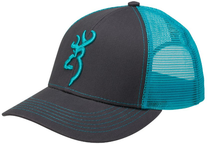 Browning Flashback Hat,Charcoal/Neon Blue- Back40Trading2