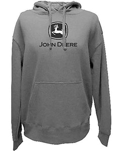 John Deere Logo Hooded Sweatshirt Charcoal-large