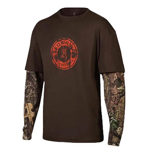 Browning Men's Long Sleeve Ryder Camo T Shirt - Back40Trading2