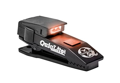 QuiqLite Pro Pocket Concealable Flashlight with White/Red LED's, Black- Back40Trading2
