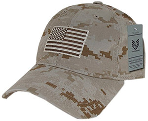 Rapid Dominance A03-1TSA-DES Relaxed Graphic Cap, Tonal Flag, Desert, Desert Digital