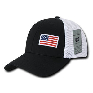 Rapid Dominance A08-USA-BLK Aero Foam Flex USA Cap, Black- back40trading2