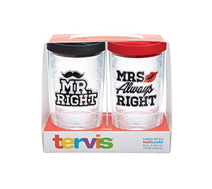 "Tervis Set of 2 ""Mr. Right And Mrs. Always Right"" 16-oz. Travel Mugs- Back40Trading2"