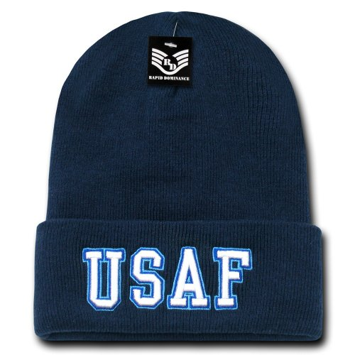Rapid Dominance Air Force Text Military Long Beanie