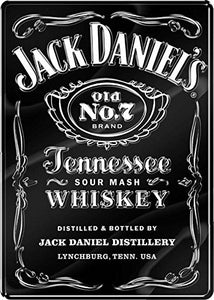 "JACK DANIELS OVER SIZED PREMIUM SIGN EMBOSSED UV PROTECTED 18.5"" W 26"" H 0.25"" D-back40trading2"