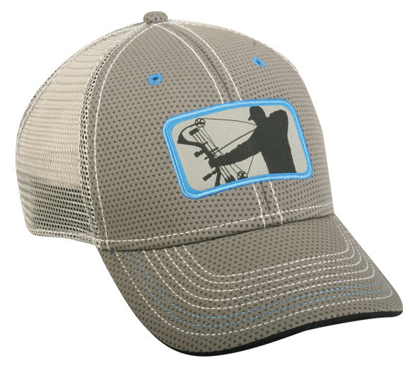 Major League Bowhunter Performance Mesh Gray Hat - Back40Trading2