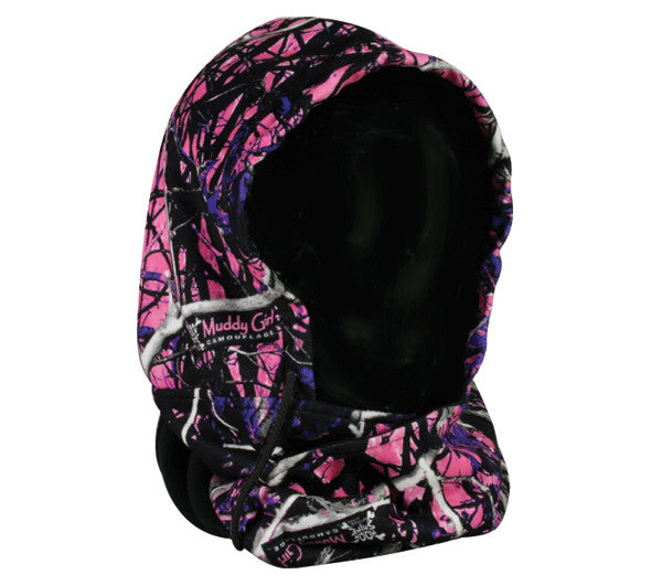 Muddy Girl Brand Pink Double Fleece Cross Cover Hat - Back40Trading2