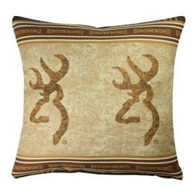 Browning Buckmark Square Pillow - Back40Trading2