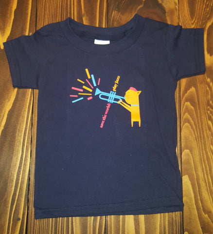 "Kids ""Jazz Kitten"" Navy Tee"