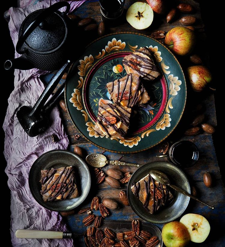 Toffee Apple Pecan Slices