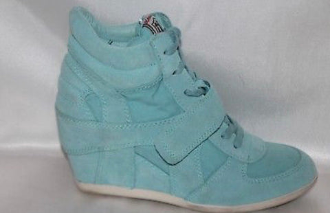 ASH teal wedge sneakers