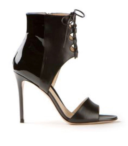Gianvito Rossi lace up cut out sandals