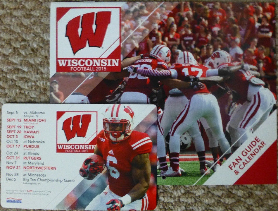 Wisconsin Badgers 2015-2016 Calendar and Magnet Schedule