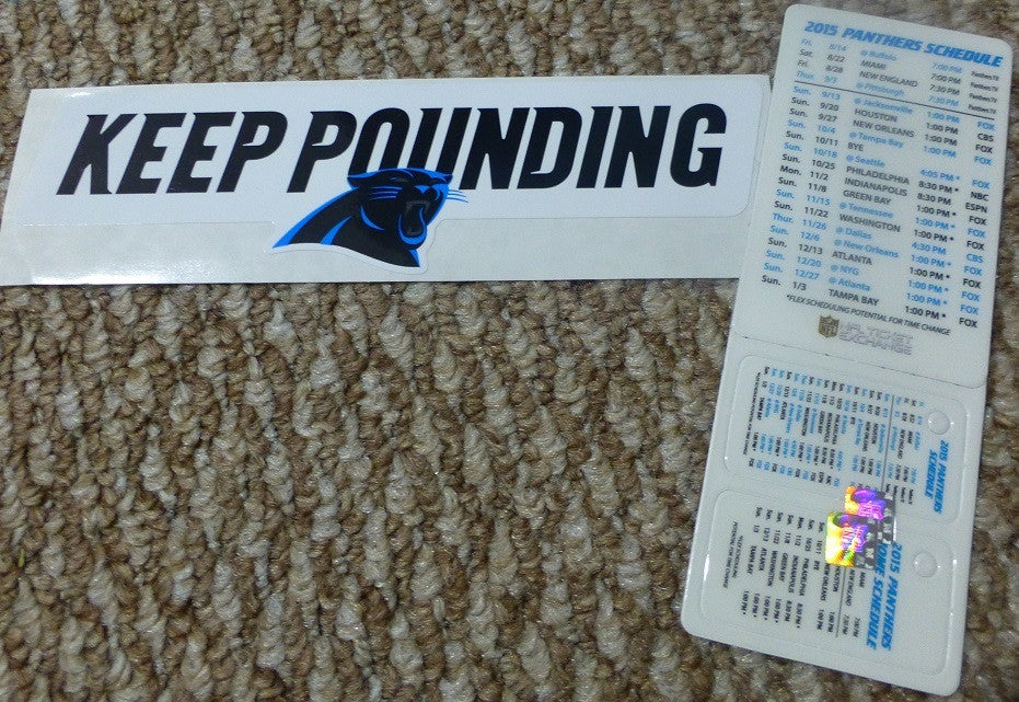Carolina Panthers Sticker and Pocket Schedule 2015-2016