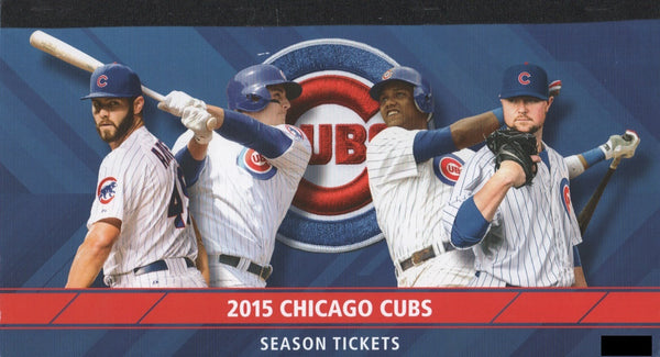 Chicago Cubs 2015 Full Season Ticket Book Unused Stubs
