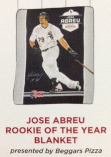 Chicago White Sox Jose Abreu Fleece Blanket Rookie of the Year 2015 SGA