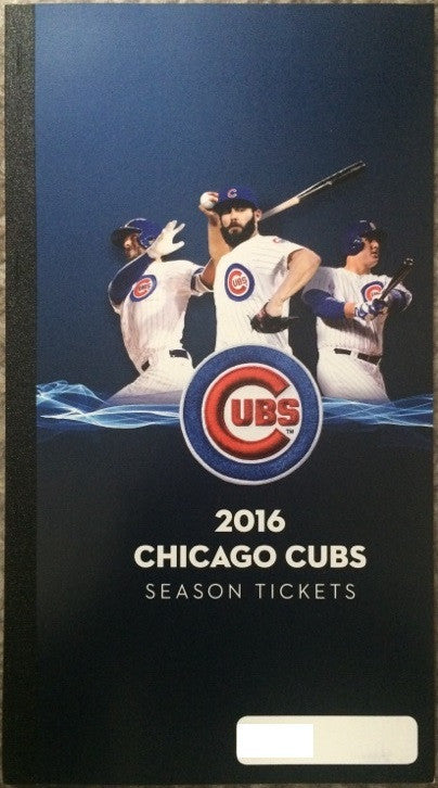 Chicago Cubs 2016 Season Ticket Holder Book Unused Stubs