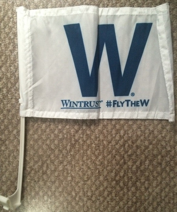 Chicago Cubs 2016 Fly the W Car Flag Season Ticket Holder