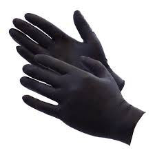 Black Nitrile Powder Free Gloves  ( heavy duty glove )