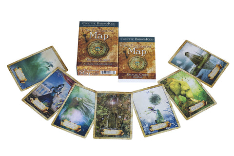 the enchanted map oracle cards a 52 card deck and guidebook