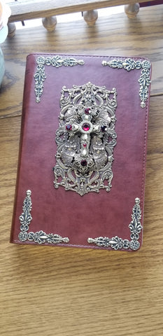 ESV Ruby Crystals Jeweled Bible Chestnut