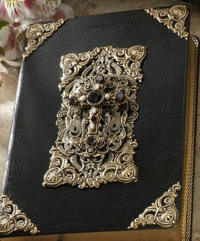 KJV Garnet and Pearl Family Heirloom Bible - Large Print