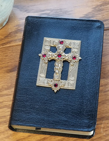Swarovski® Red Crystal Jeweled Bible - Choice of KJV or NKJV Compact Edition
