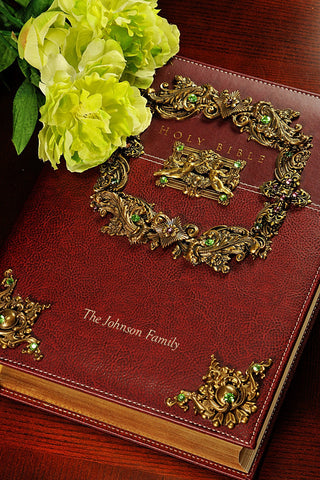 NIV Framed Angels Jeweled Family Bible