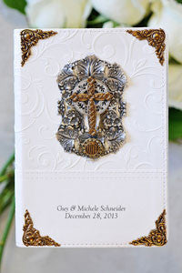 NIV Jeweled Love Cross Bride's Bible