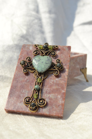 Ornate Cross Stone Box