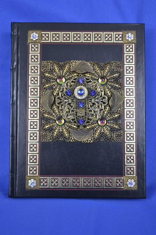 NABRE Catholic Family Bible With Brass stampings and Blue stones