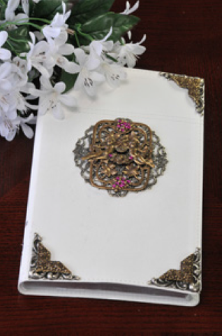 Jeweled Fuchsia and Angels Bible NIV RETIRED