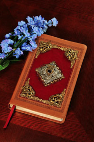 KJV Heartfelt Garnet Jeweled Study Bible