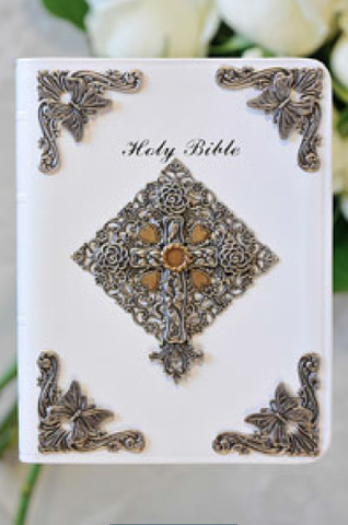 KJV New Life Brides Bible White RETIRED