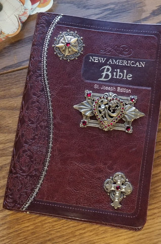 NAB Red Heart Jeweled Bible