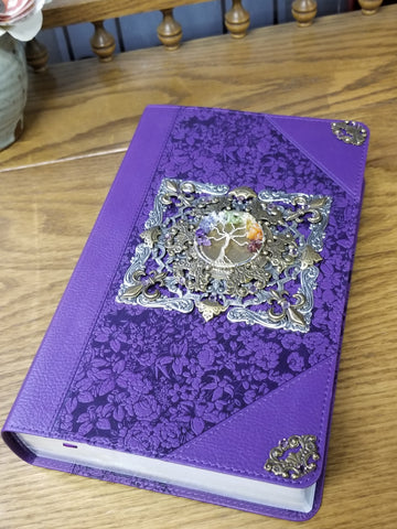 KJV Tree of Many Possiblities Purple Giant Print Bible