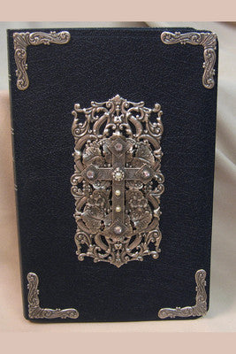 NIV Decorated Cross with Rhinestone Crystal Jeweled Bible